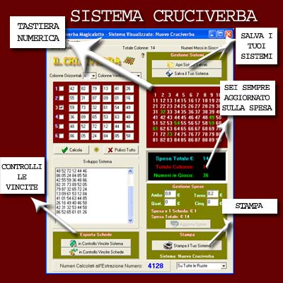 Magicalotto: Sistema Cruciverba